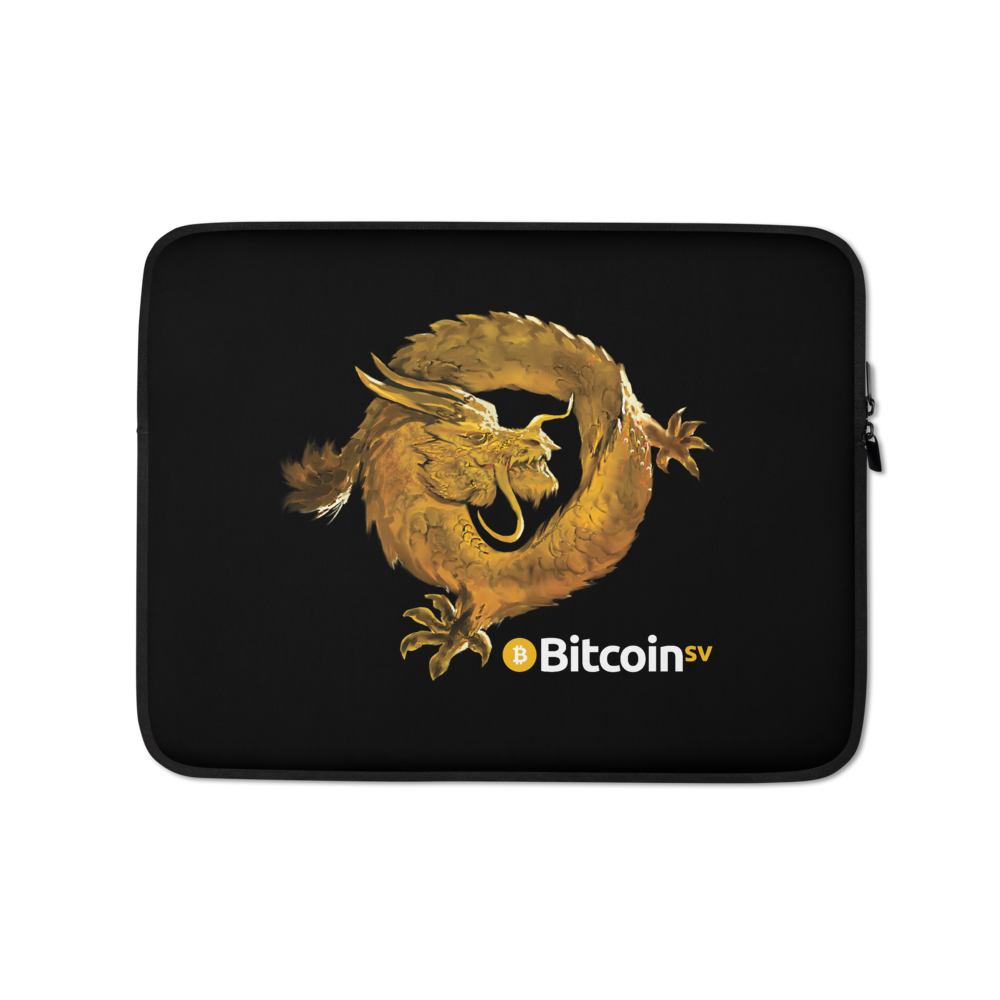 Bitcoin SV Woken Dragon Laptop Sleeve 13 in  - zeroconfs