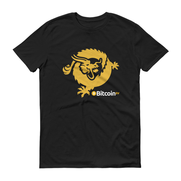 Bitcoin SV Dragon Short-Sleeve T-Shirt Black S - zeroconfs