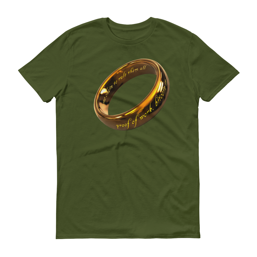 One Chain To Rule Them All Bitcoin SV Short-Sleeve T-Shirt City Green S - zeroconfs