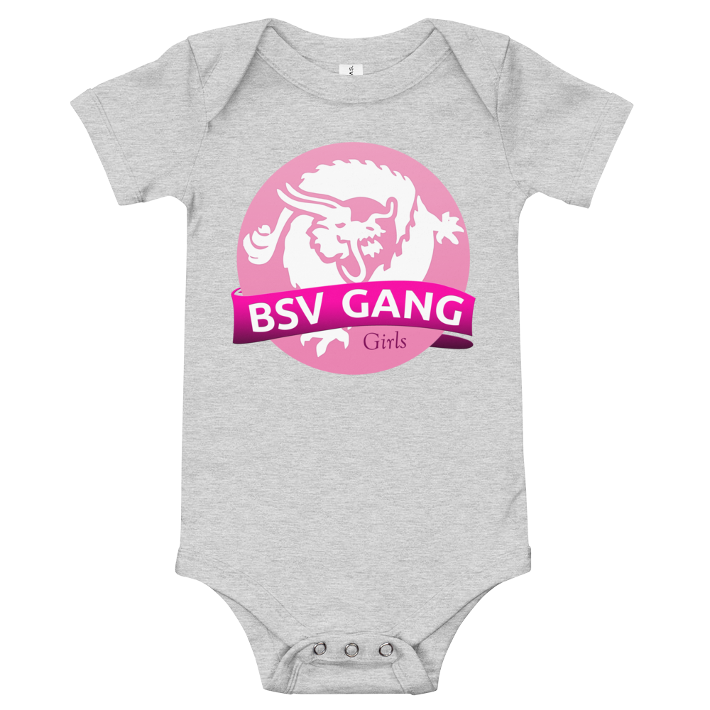 Bitcoin SV Gang Girls Baby Bodysuit Athletic Heather 3-6m - zeroconfs