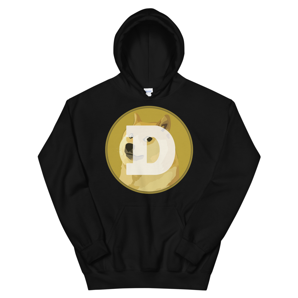Dogecoin Hooded Sweatshirt Black S - zeroconfs