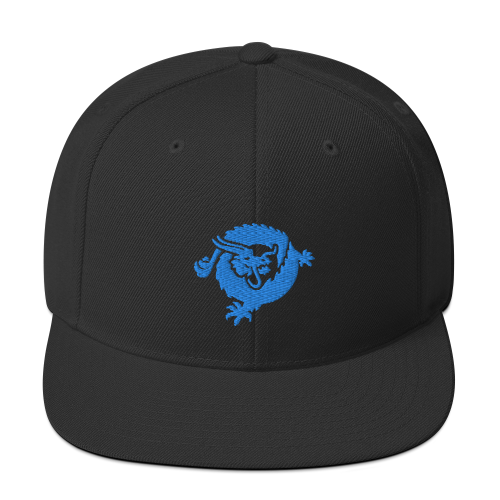 Bitcoin SV Dragon Snapback Hat Blue Black  - zeroconfs