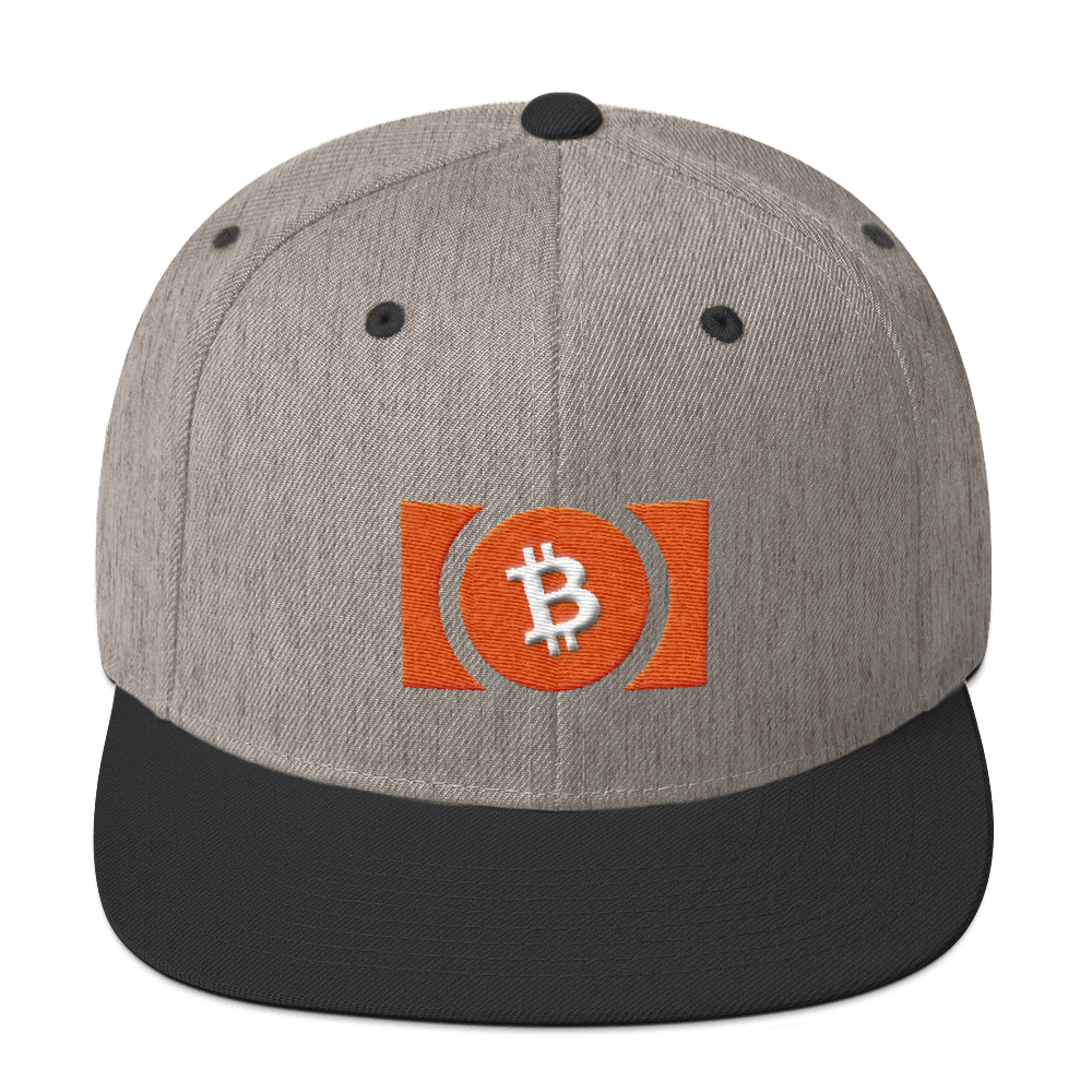Bitcoin Cash Snapback Hat Heather/Black  - zeroconfs