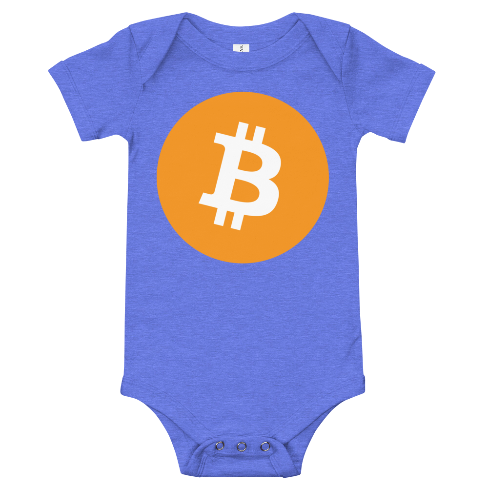 Bitcoin Core Baby Bodysuit Heather Columbia Blue 3-6m - zeroconfs