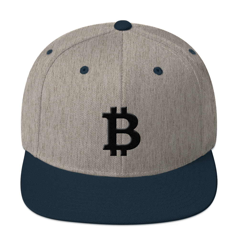 Bitcoin Blacknet SE Snapback Hat Heather Grey/ Navy  - zeroconfs
