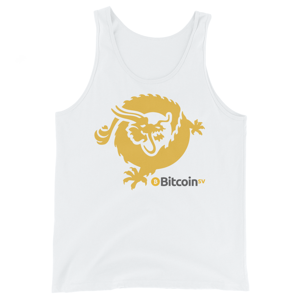 Bitcoin SV Dragon Tank Top White XS - zeroconfs