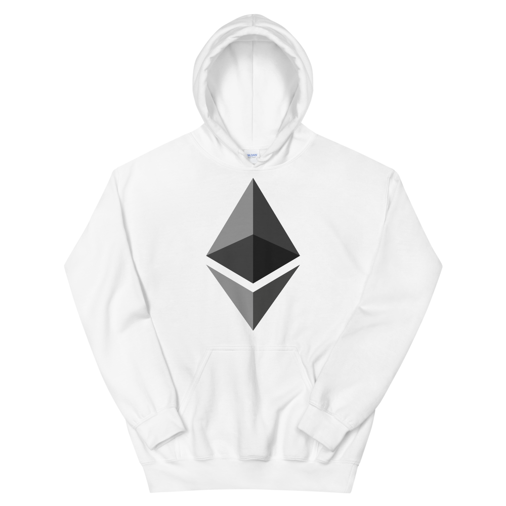 Ethereum Hooded Sweatshirt White S - zeroconfs