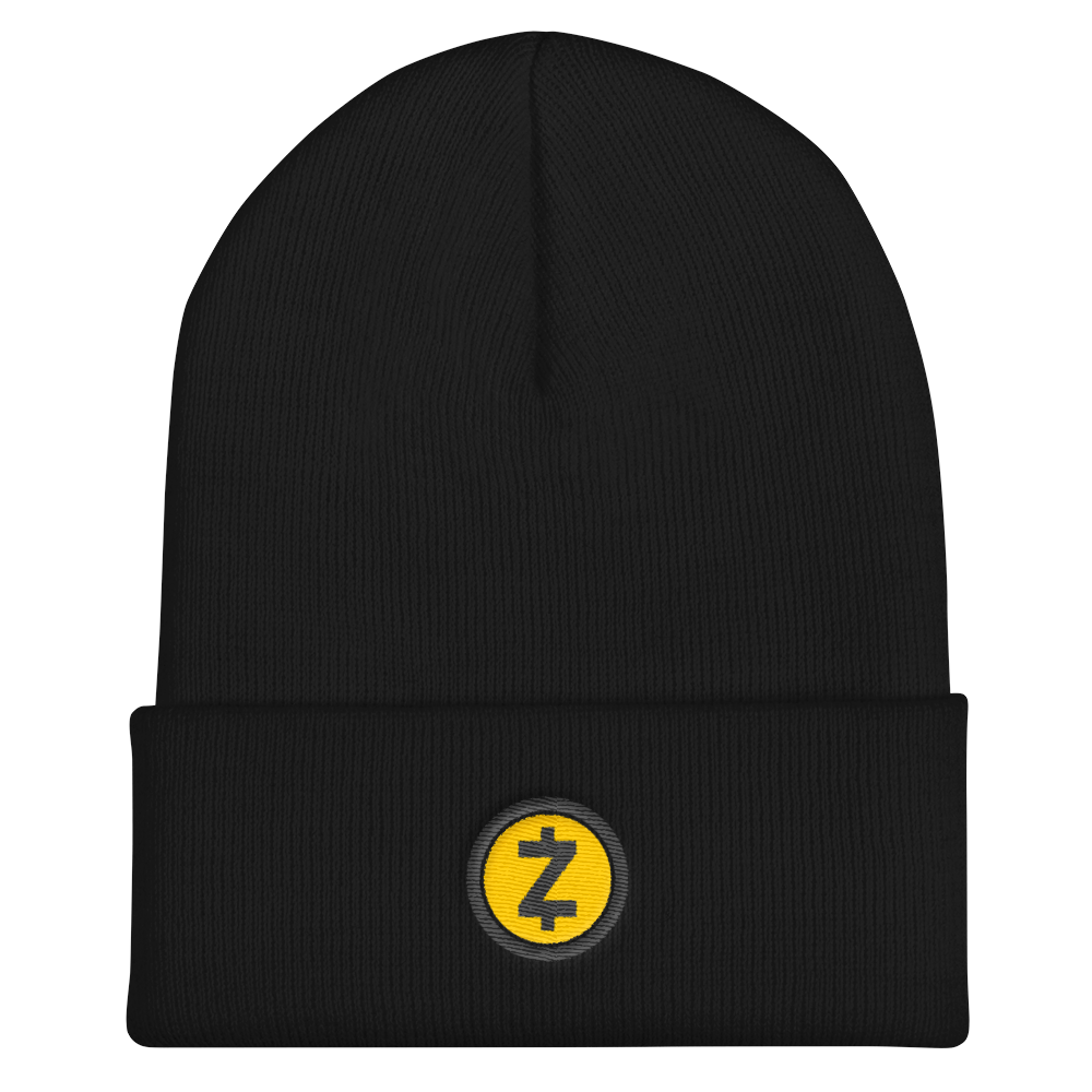 Zcash Cuffed Beanie Black  - zeroconfs