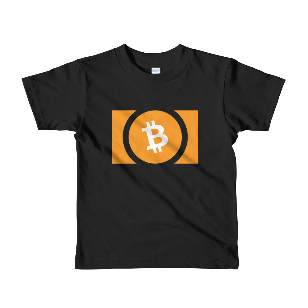 Bitcoin Cash Short Sleeve Kids T-Shirt Black 2yrs - zeroconfs