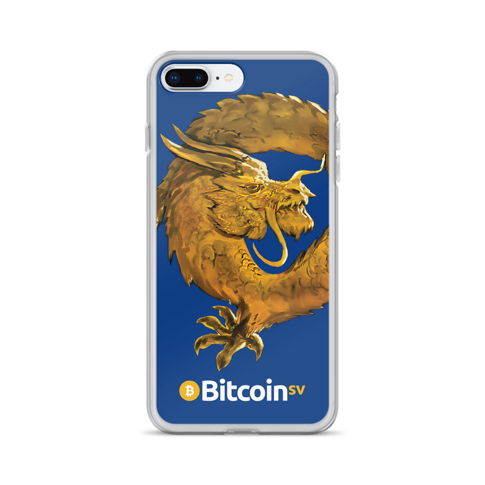 Bitcoin SV Woken Dragon iPhone Case Navy iPhone 7 Plus/8 Plus  - zeroconfs