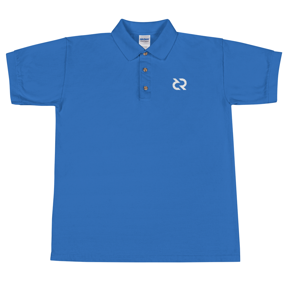 Decred Embroidered Polo Shirt Royal S - zeroconfs