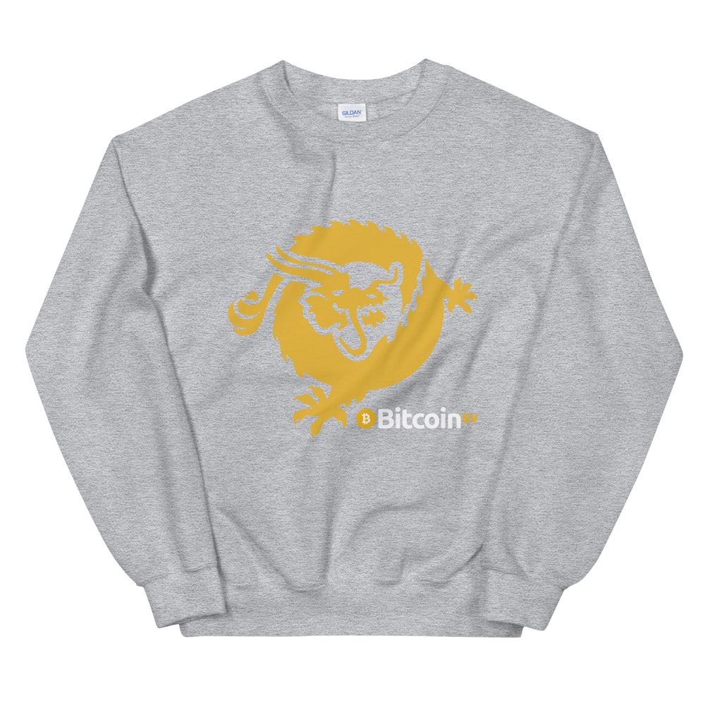 Bitcoin SV Dragon Sweatshirt Sport Grey S - zeroconfs