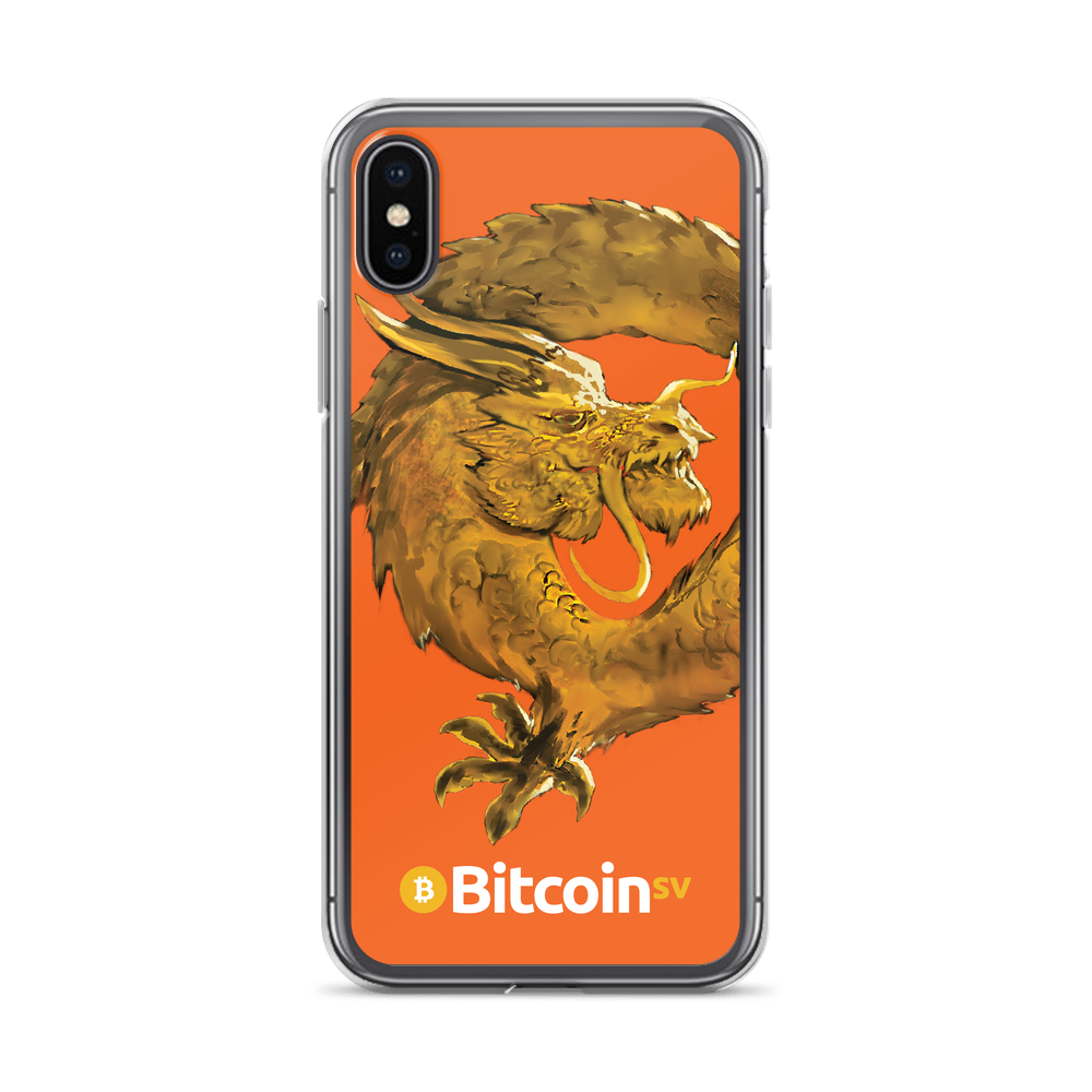 Bitcoin SV Woken Dragon iPhone Case Orange iPhone X/XS  - zeroconfs