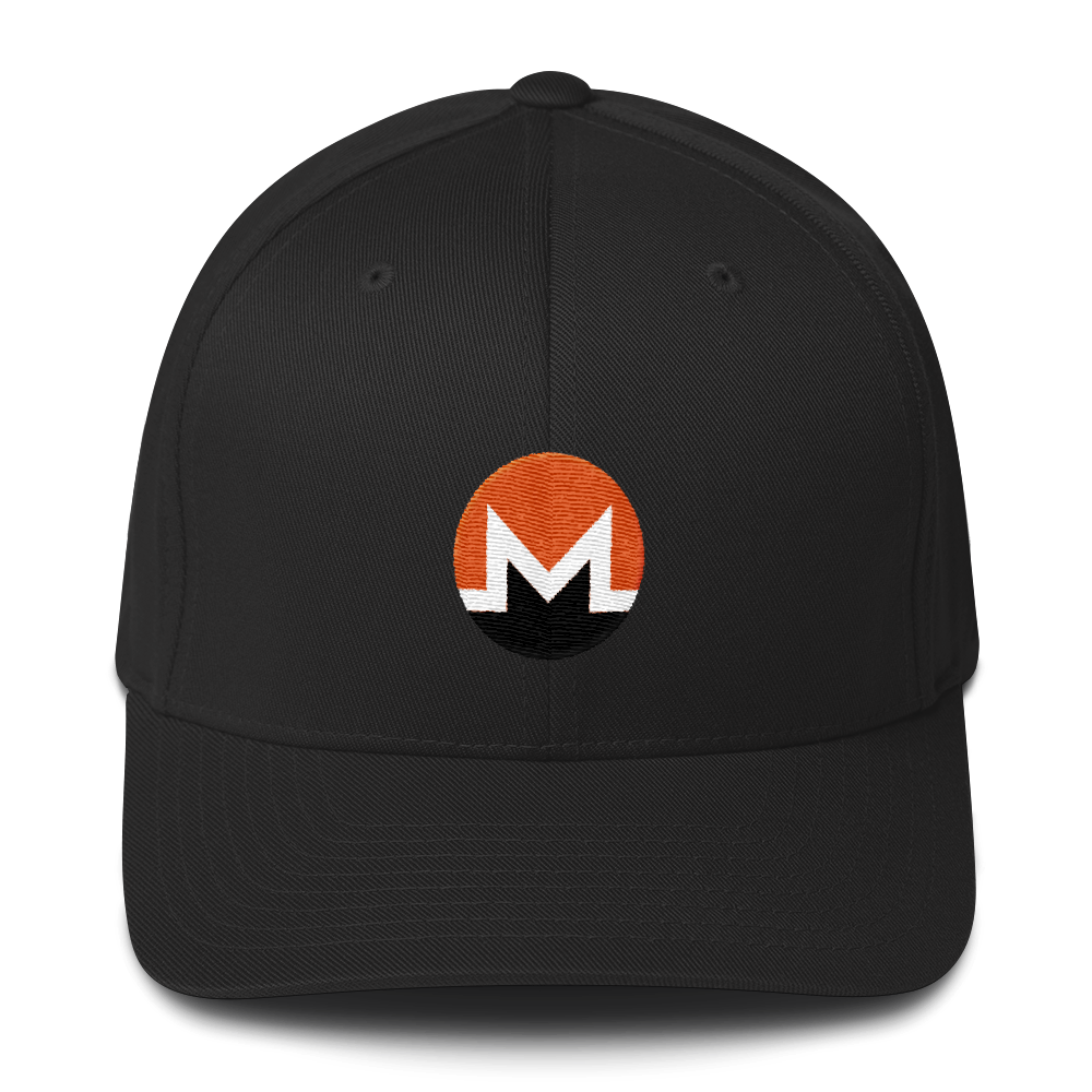 Monero Flexfit Cap Black S/M - zeroconfs