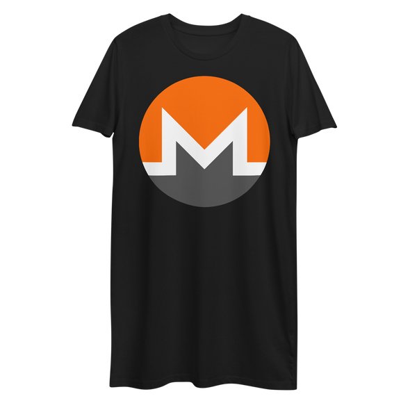 Monero Premium T-Shirt Dress Black XS - zeroconfs