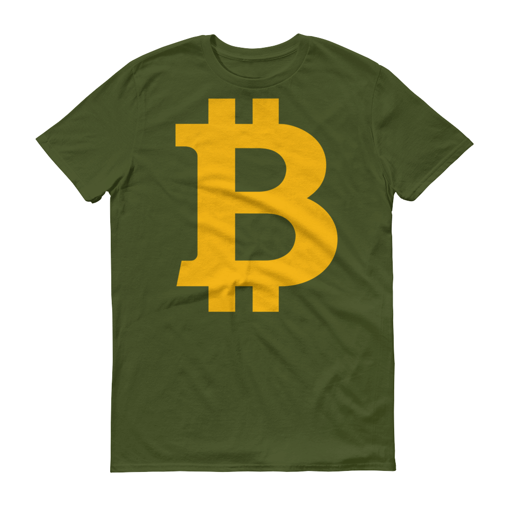 Bitcoin B Short-Sleeve T-Shirt City Green S - zeroconfs