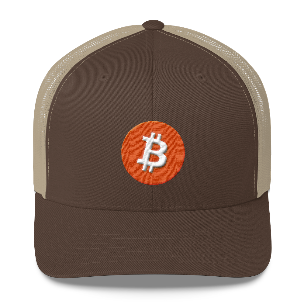 Bitcoin Core Trucker Cap Brown/ Khaki  - zeroconfs