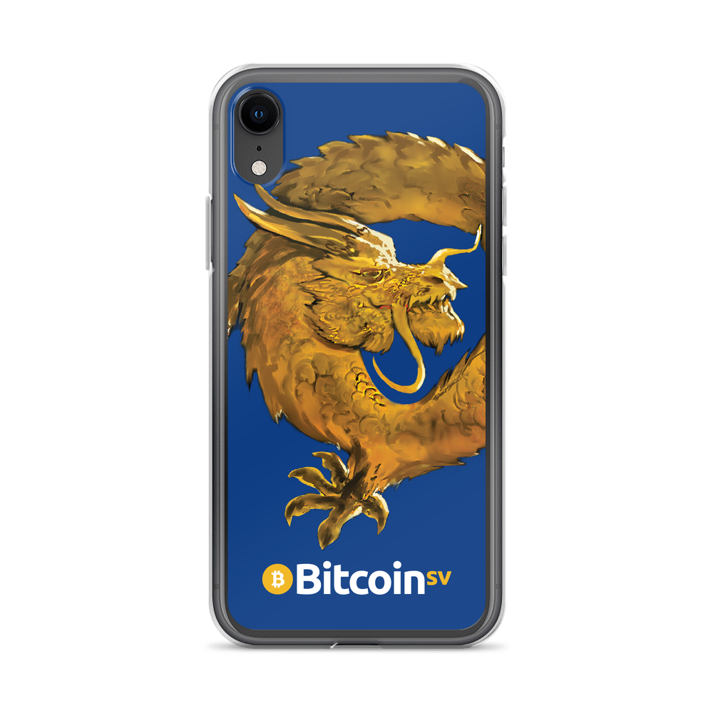 Bitcoin SV Woken Dragon iPhone Case Navy iPhone XR  - zeroconfs
