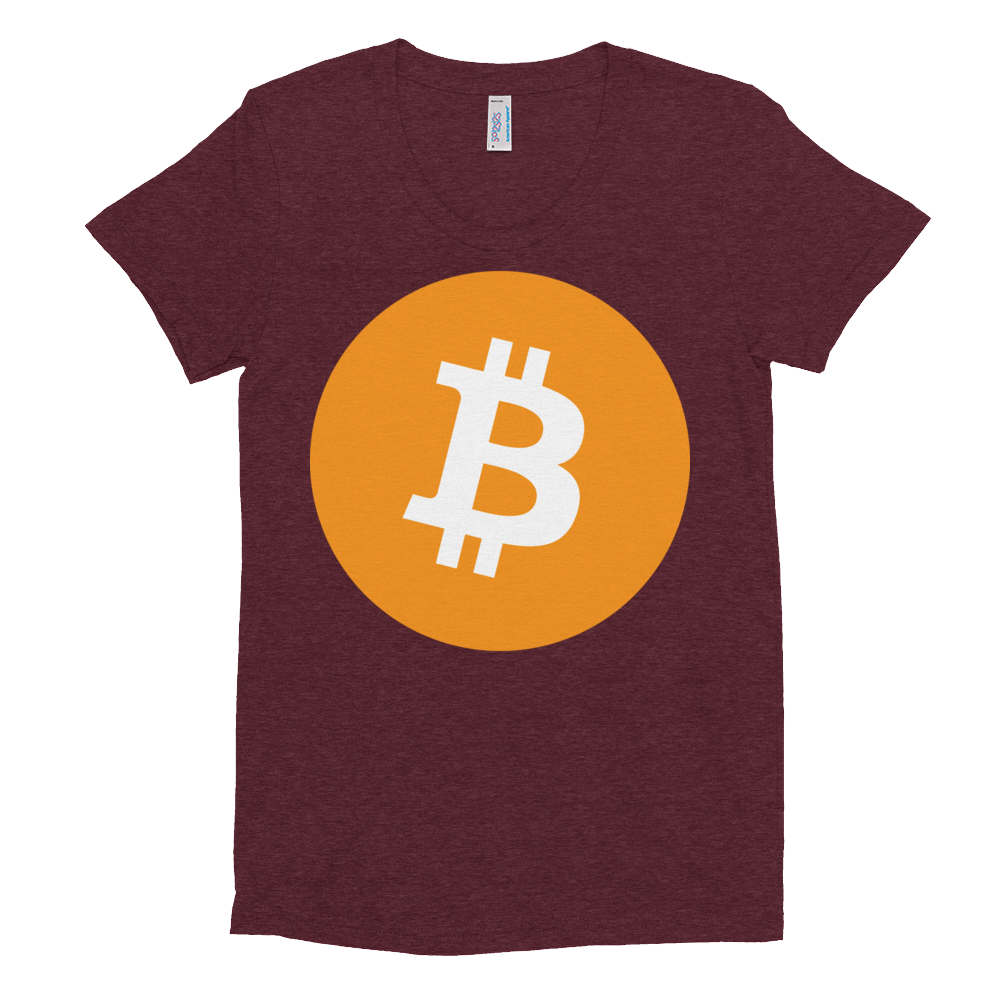 Bitcoin Core Women's Crew Neck T-shirt Tri-Cranberry S - zeroconfs