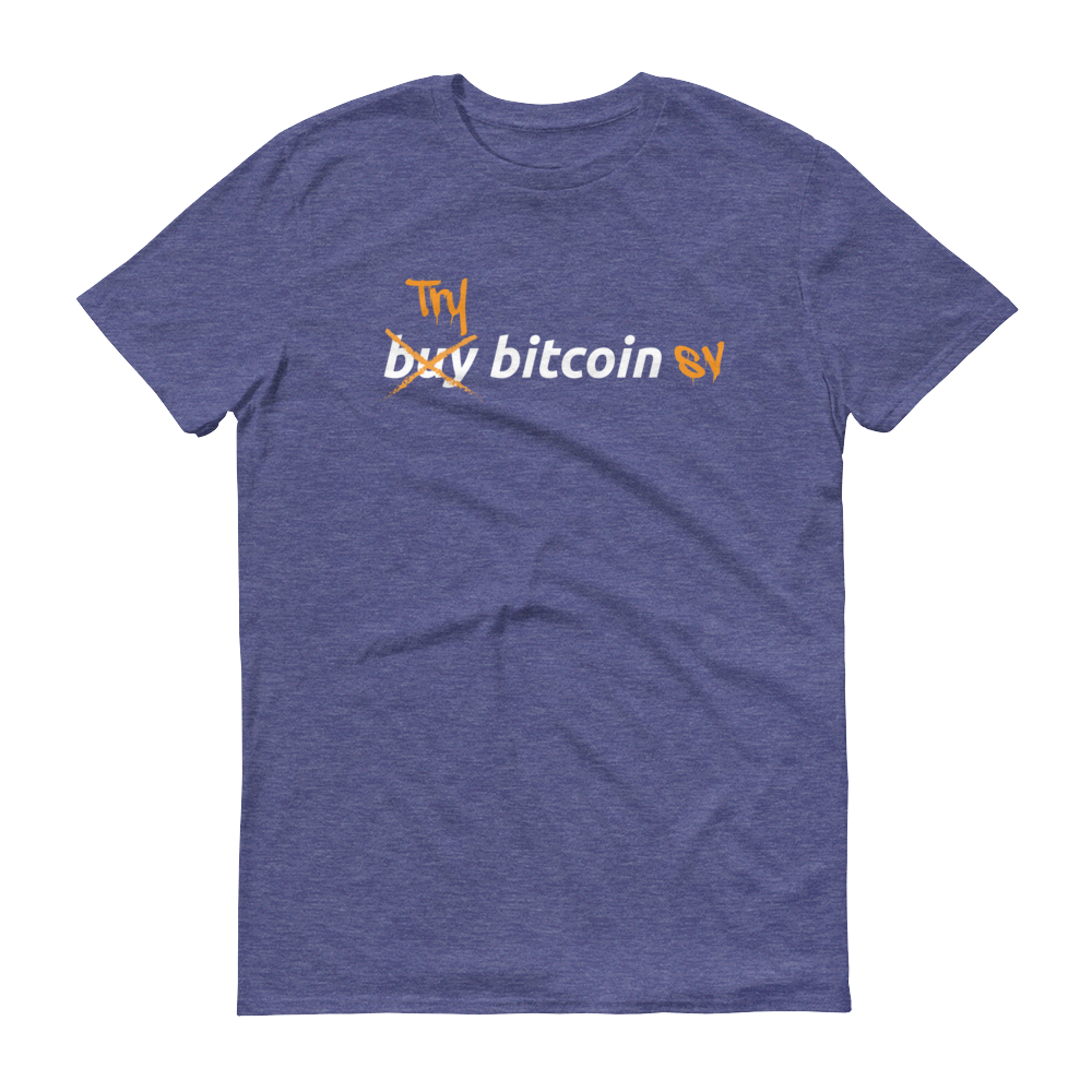 Try Bitcoin SV Short-Sleeve T-Shirt Heather Blue S - zeroconfs