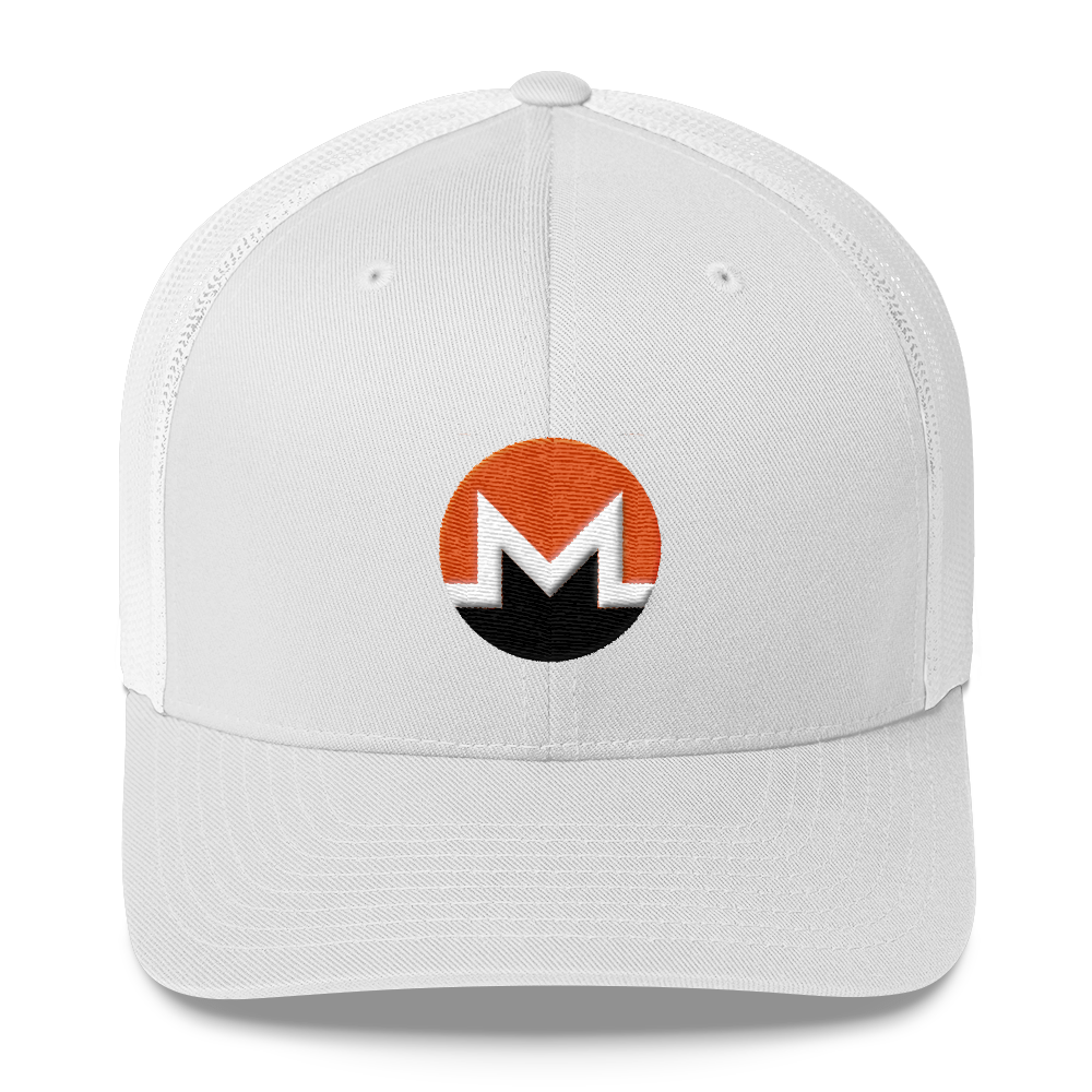 Monero Trucker Cap White  - zeroconfs