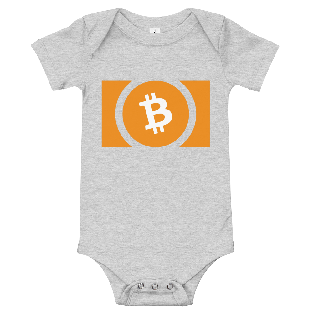 Bitcoin Cash Baby Bodysuit Athletic Heather 3-6m - zeroconfs