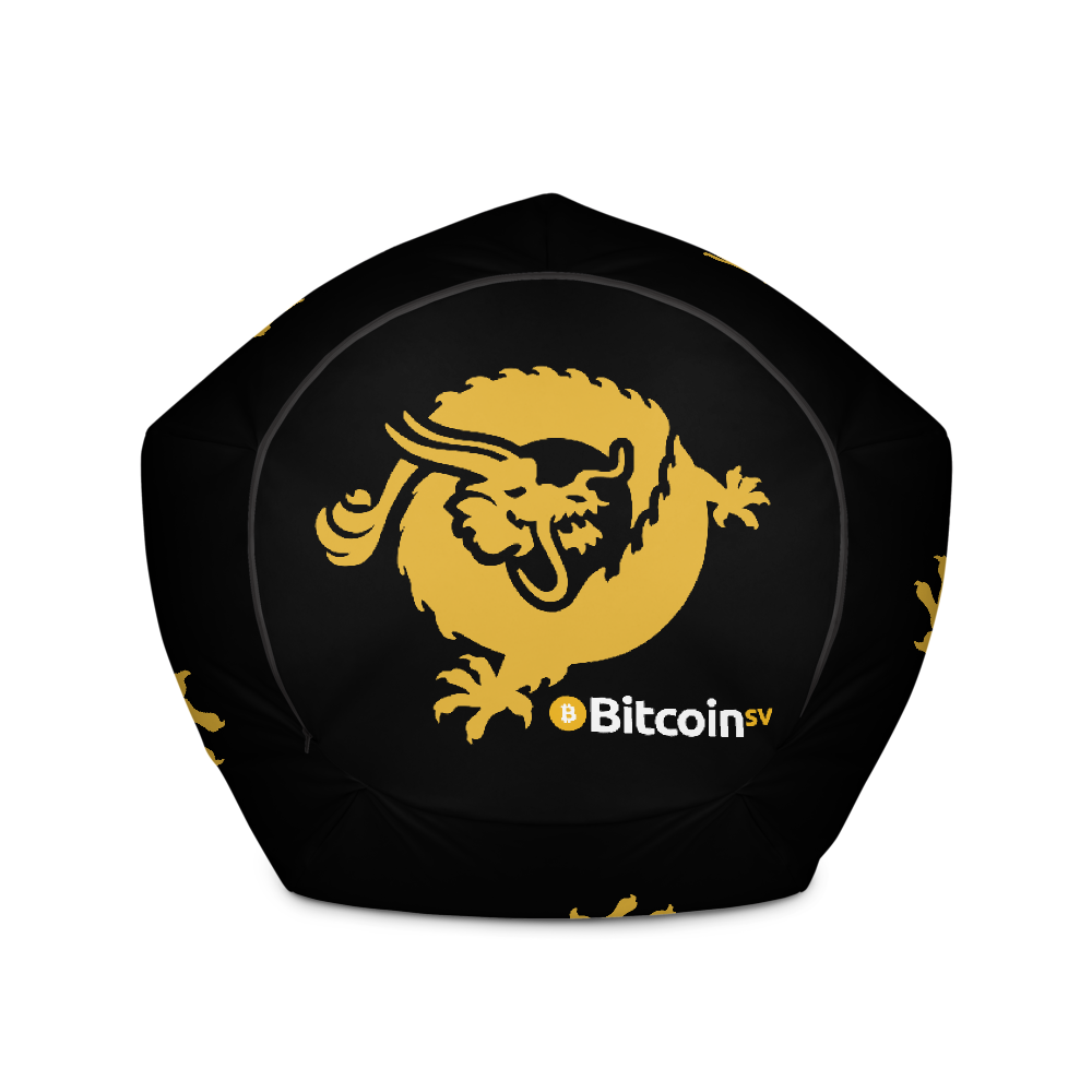 Bitcoin SV Dragon Black Bean Bag Cover Only   - zeroconfs