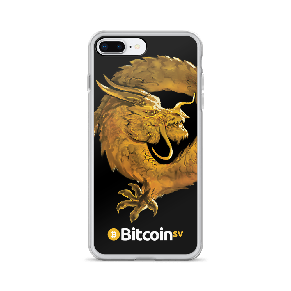 Bitcoin SV Woken Dragon iPhone Case Black iPhone 7 Plus/8 Plus  - zeroconfs