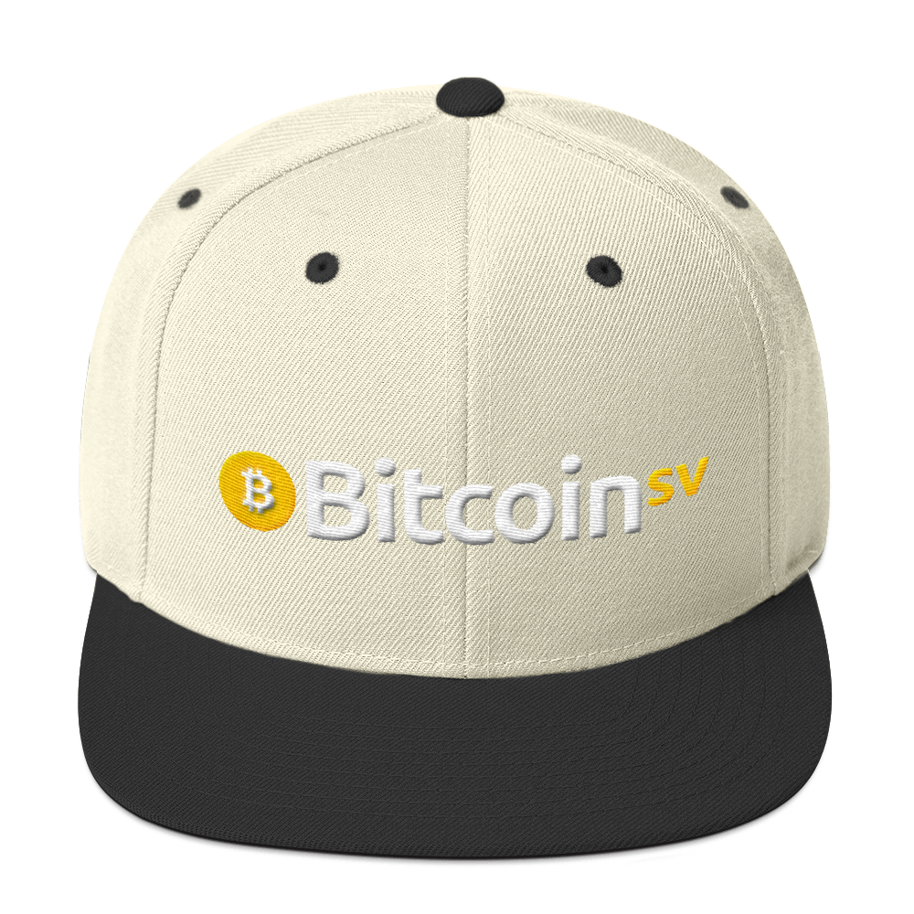Bitcoin SV Snapback Hat Natural/ Black  - zeroconfs