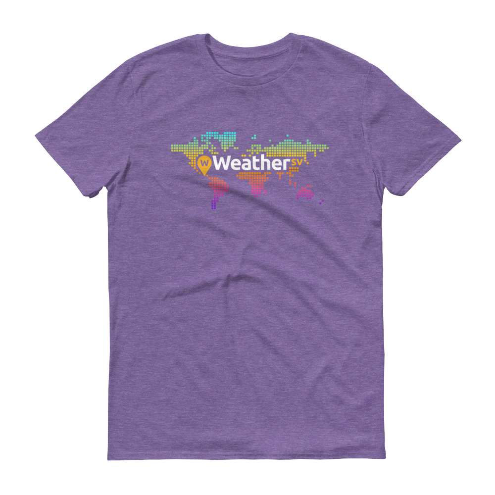 Weather SV Short-Sleeve T-Shirt Heather Purple S - zeroconfs
