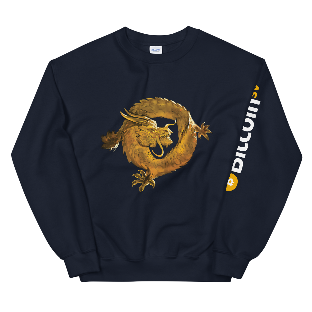 Bitcoin SV Woken Dragon Women's Sweatshirt Sleeve Navy S - zeroconfs