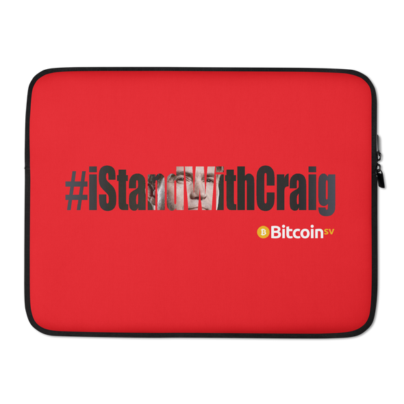 #IStandWithCraig Bitcoin SV Laptop Sleeve Red 15 in  - zeroconfs