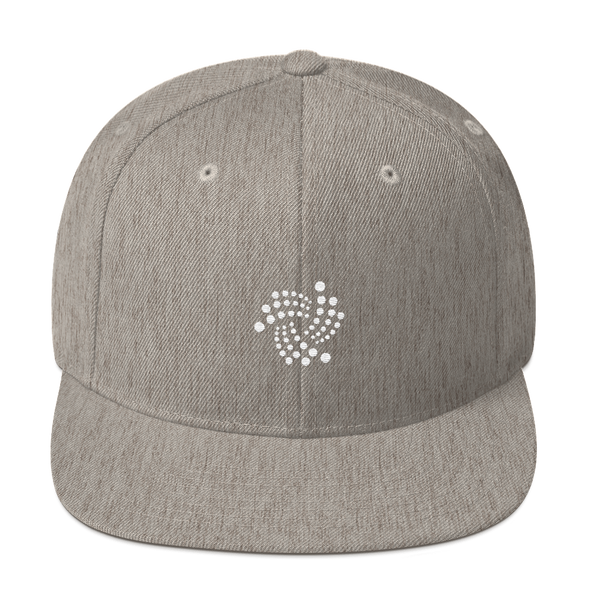 IOTA Snapback Hat Heather Grey  - zeroconfs