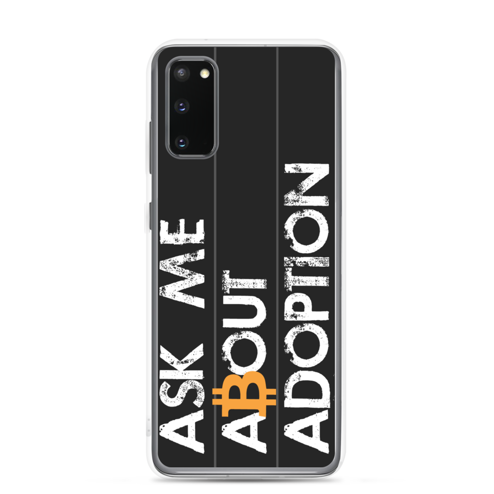 Ask Me About Adoption Bitcoin Samsung Case Samsung Galaxy S20  - zeroconfs