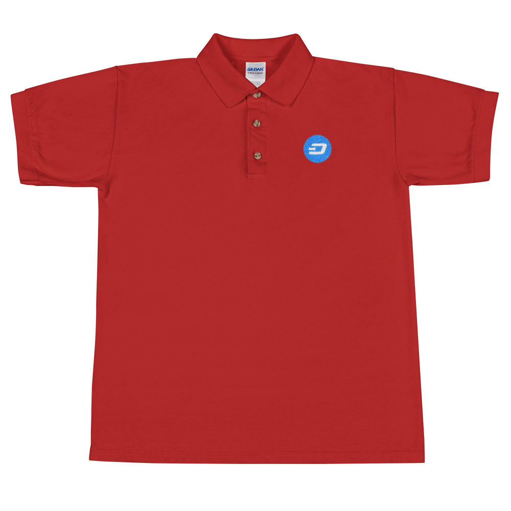 Dash Embroidered Polo Shirt Red S - zeroconfs