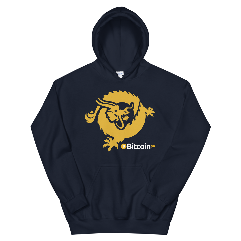 Bitcoin SV Dragon Women's Hooded Sweatshirt Navy S - zeroconfs