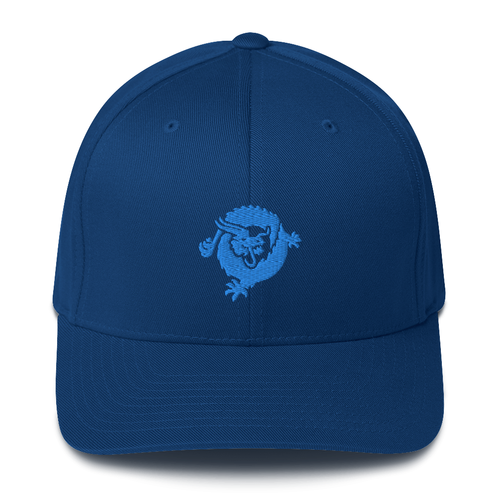 Bitcoin SV Dragon Flexfit Cap Blue Royal Blue S/M - zeroconfs