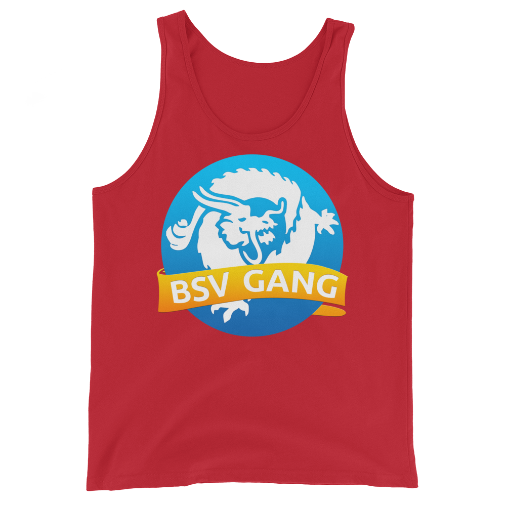Bitcoin SV Gang Tank Top Red XS - zeroconfs
