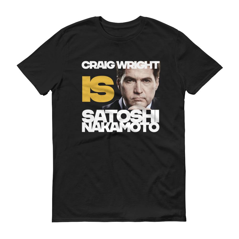 Craig Is Satoshi Short-Sleeve T-Shirt Black S - zeroconfs