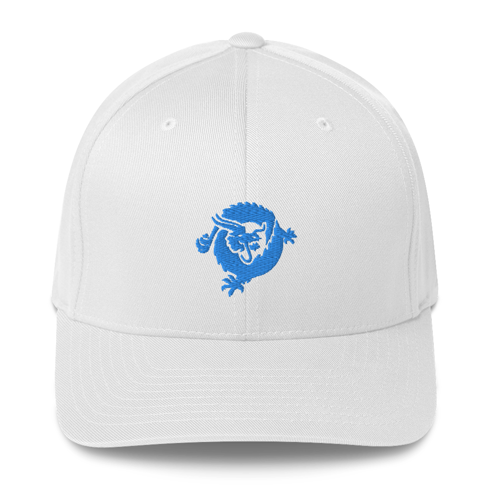 Bitcoin SV Dragon Flexfit Cap Blue White S/M - zeroconfs