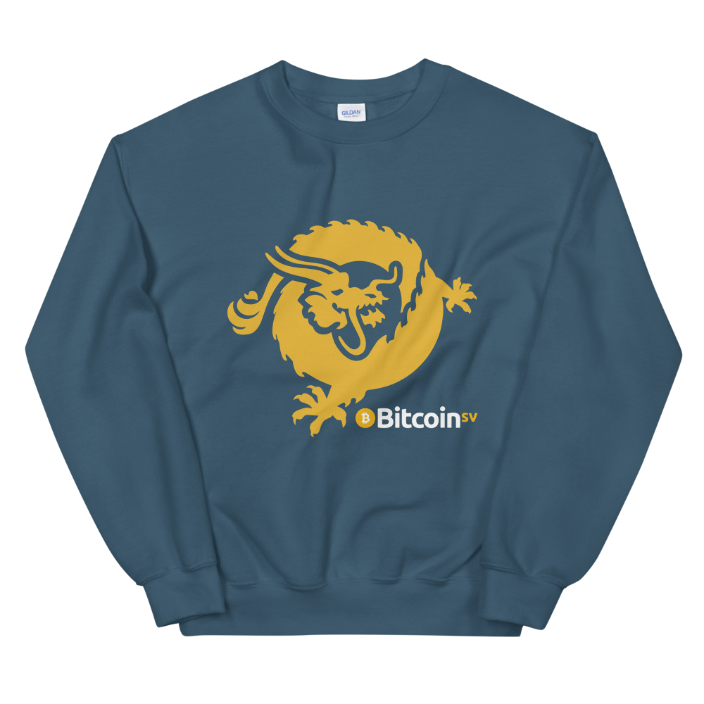 Bitcoin SV Dragon Women's Sweatshirt Indigo Blue S - zeroconfs