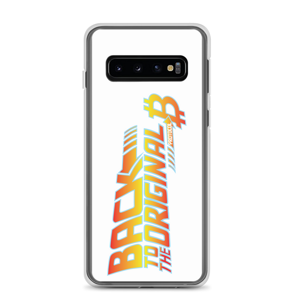 Back To The Original Bitcoin Protocol Samsung Case White Samsung Galaxy S10  - zeroconfs