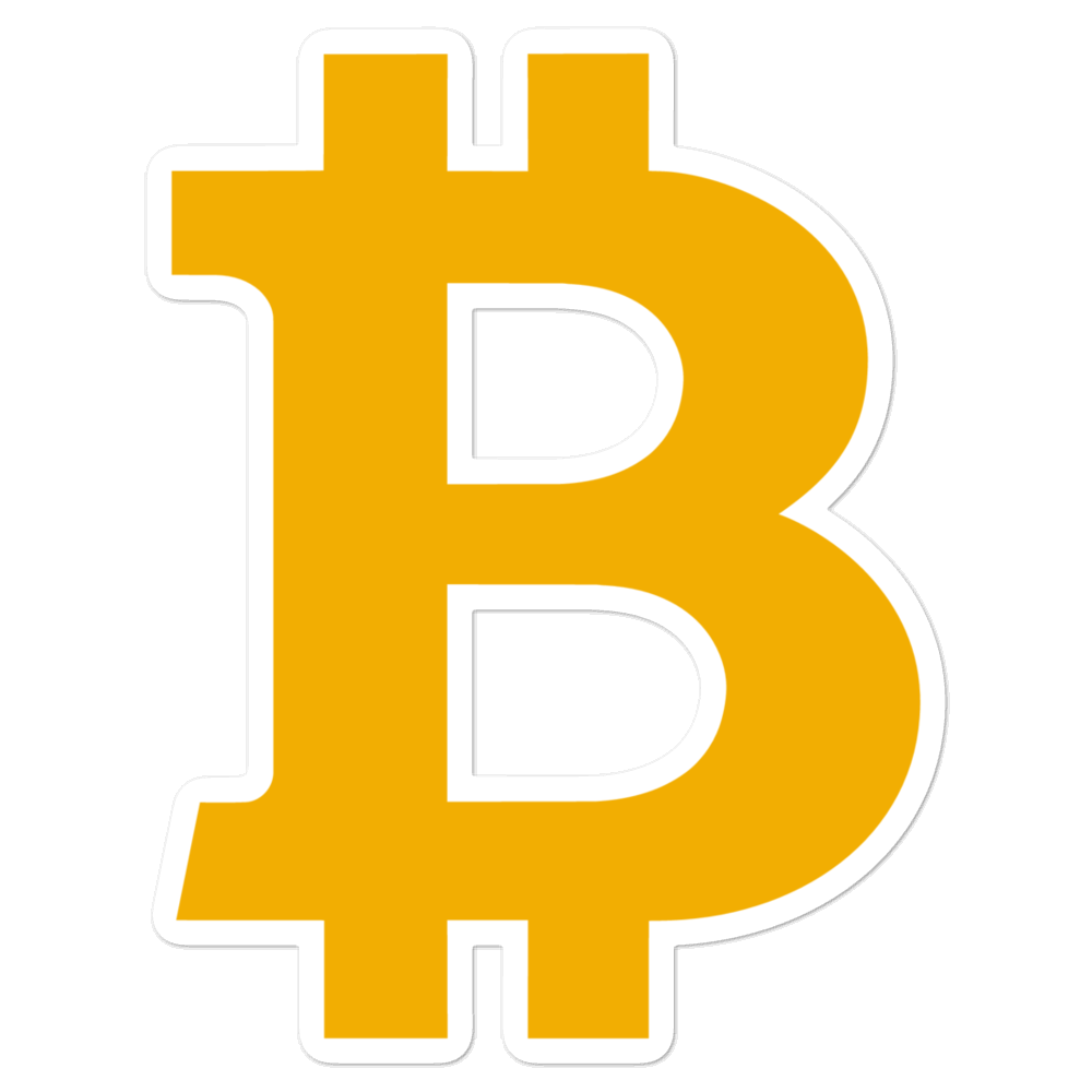Bitcoin B Bubble-Free Vinyl Stickers 5.5x5.5  - zeroconfs