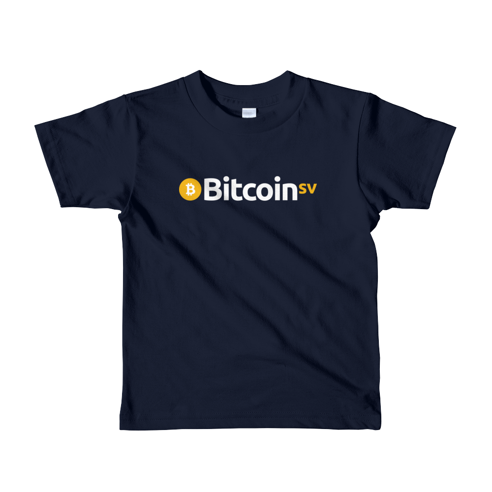 Bitcoin SV Short Sleeve Kids T-Shirt Navy 2yrs - zeroconfs