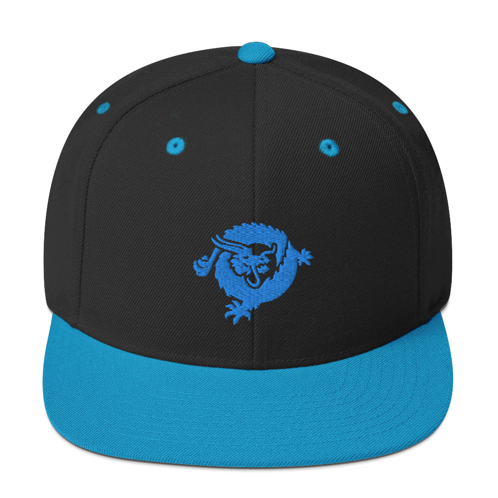 Bitcoin SV Dragon Snapback Hat Blue Black/ Teal  - zeroconfs