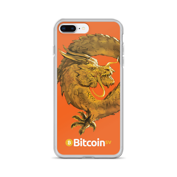 Bitcoin SV Woken Dragon iPhone Case Orange iPhone 7 Plus/8 Plus  - zeroconfs