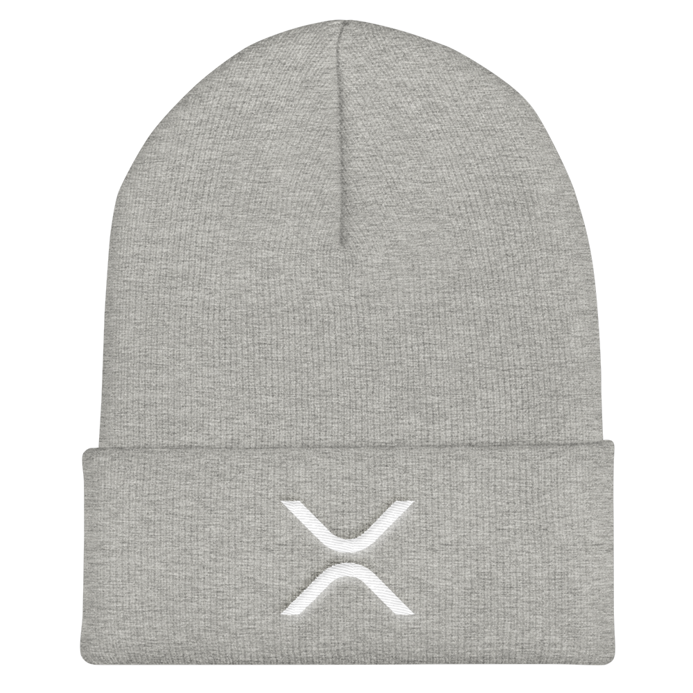 Ripple Cuffed Beanie Heather Grey  - zeroconfs