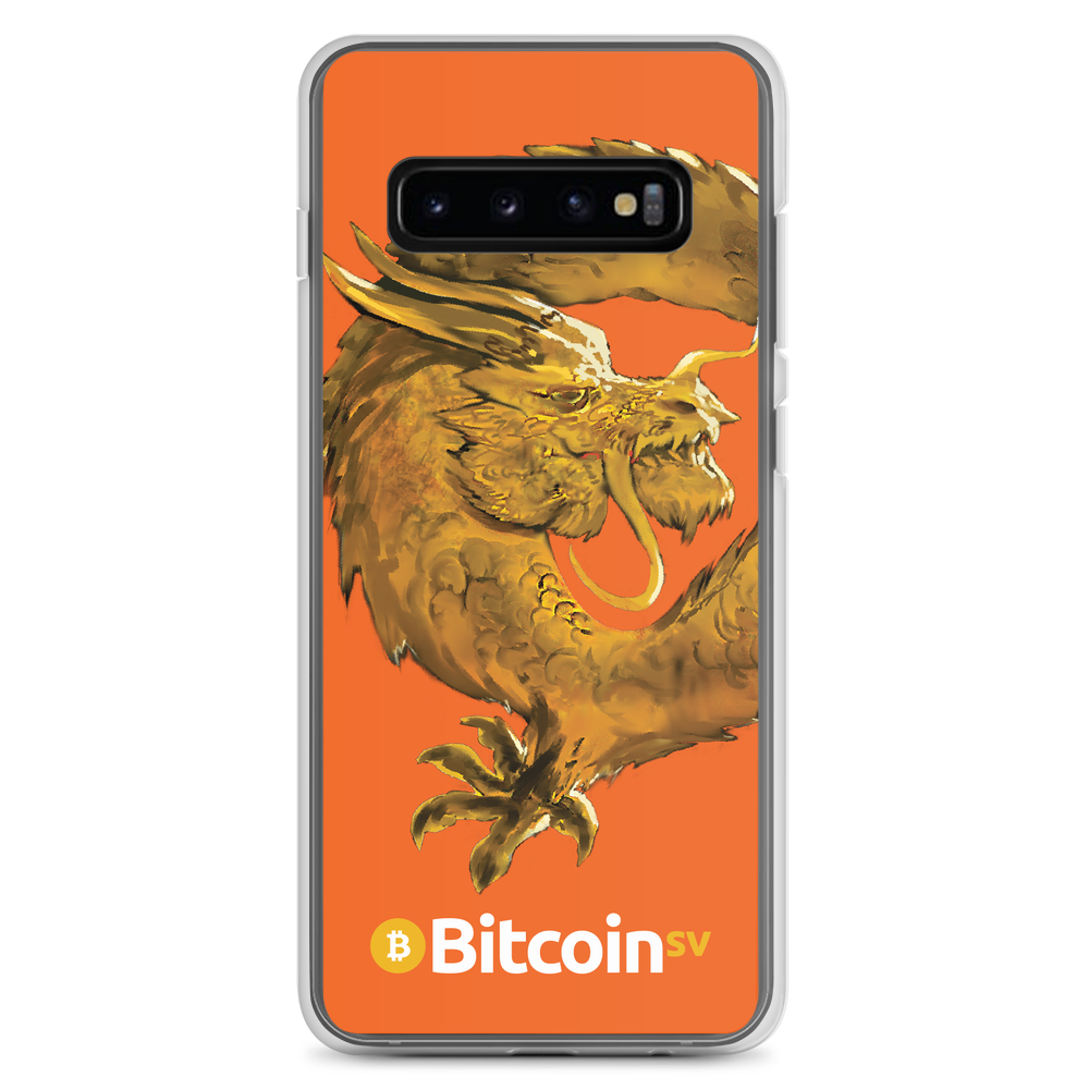 Bitcoin SV Woken Dragon Samsung Case Orange Samsung Galaxy S10+  - zeroconfs