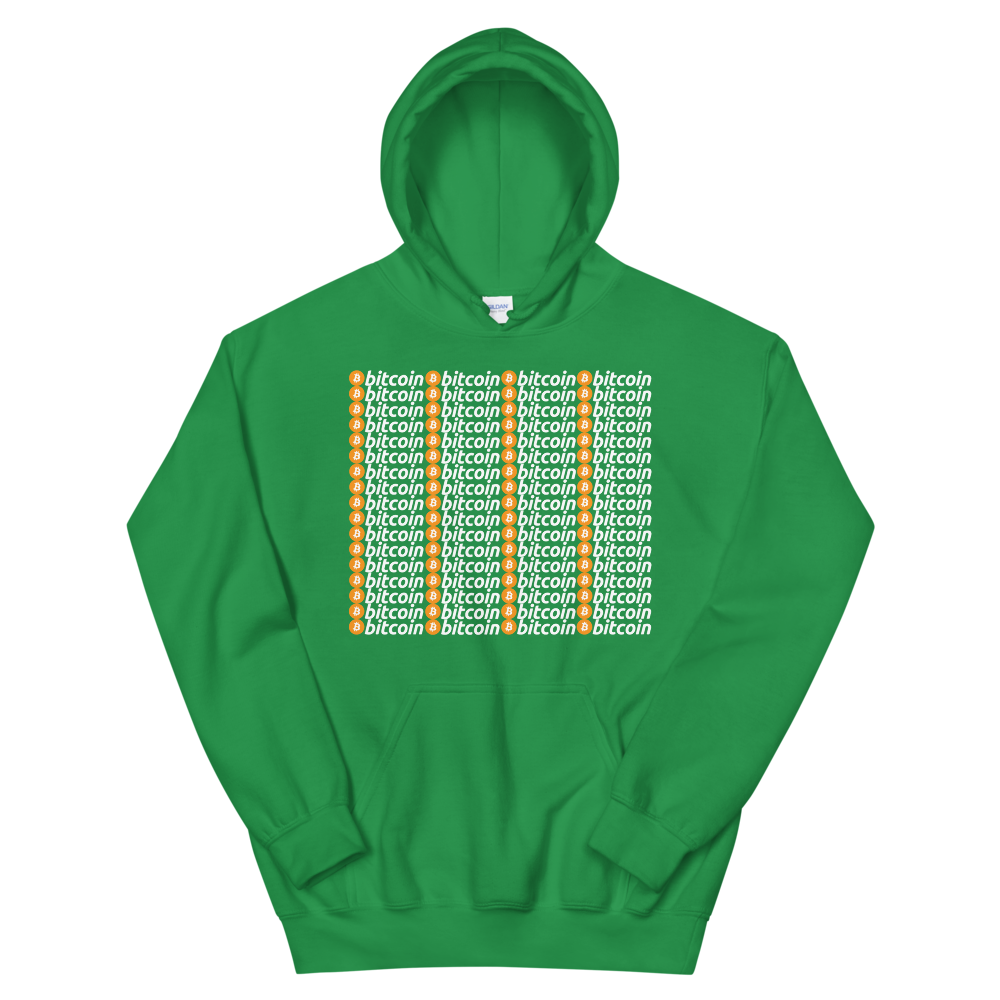Bitcoins Hooded Sweatshirt Irish Green S - zeroconfs