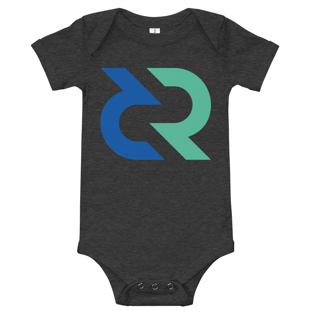 Decred Baby Bodysuit Dark Grey Heather 3-6m - zeroconfs